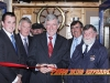 Liam Griffin cuts the tape to open the Rosslare Harbour Maritime Heritage Centre